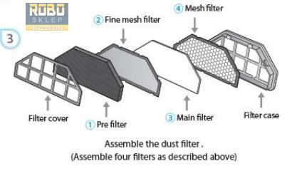 Moneual Rydis ME770 Style - filtr powietrza HEPA
