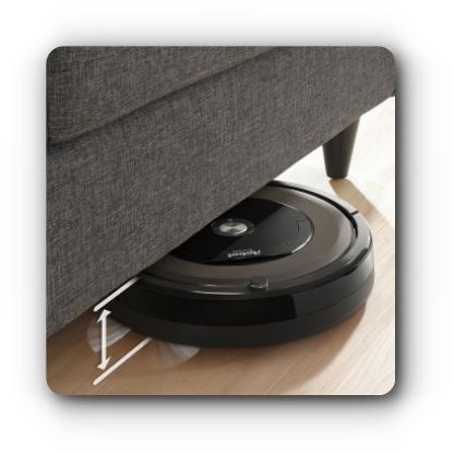 Wjazd pod meble i łóżka iRobot Roomba 896